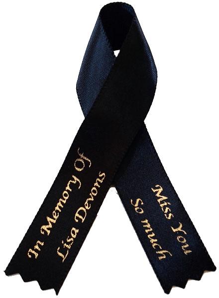Awareness Ribbon Memorial Ribbon Bows Funeral Ribbon