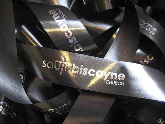Personalized Acetate Ribbon