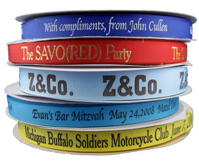 5/8 Grosgrain Personalized Ribbon
