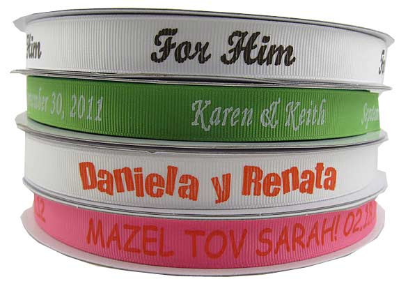 Personalized Grosgrain Ribbon 7/8